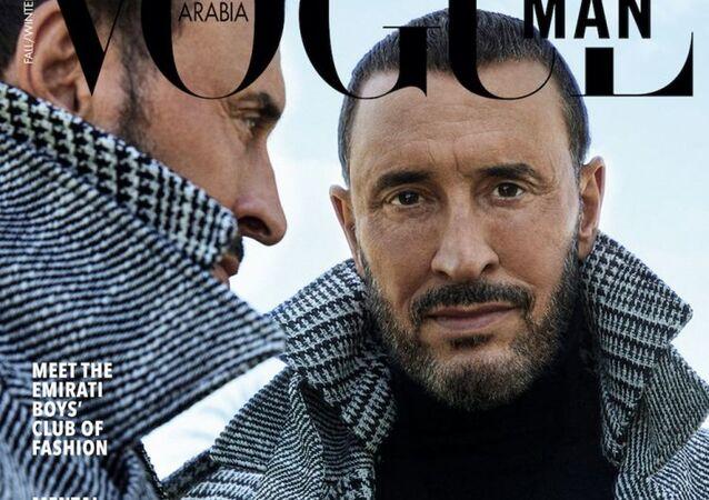 كاظم الساهر على غلاف مجلة فوغ للرجال