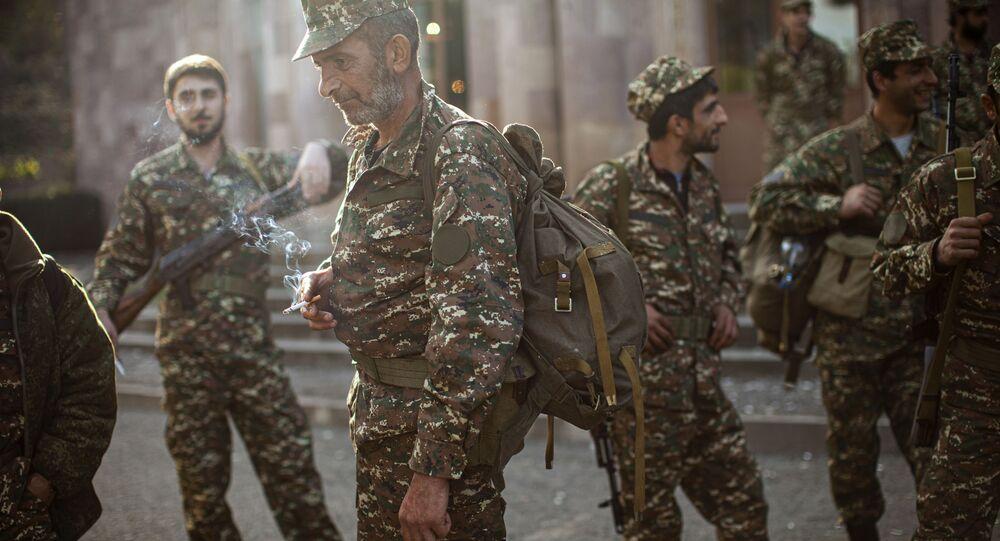 التصعيد العسكري بين أرمينيا و أذربيجان في منطقة ناغورني قره باغ (قرة باغ)، الجيش الأرمني، 29 سبتمبر 2020
