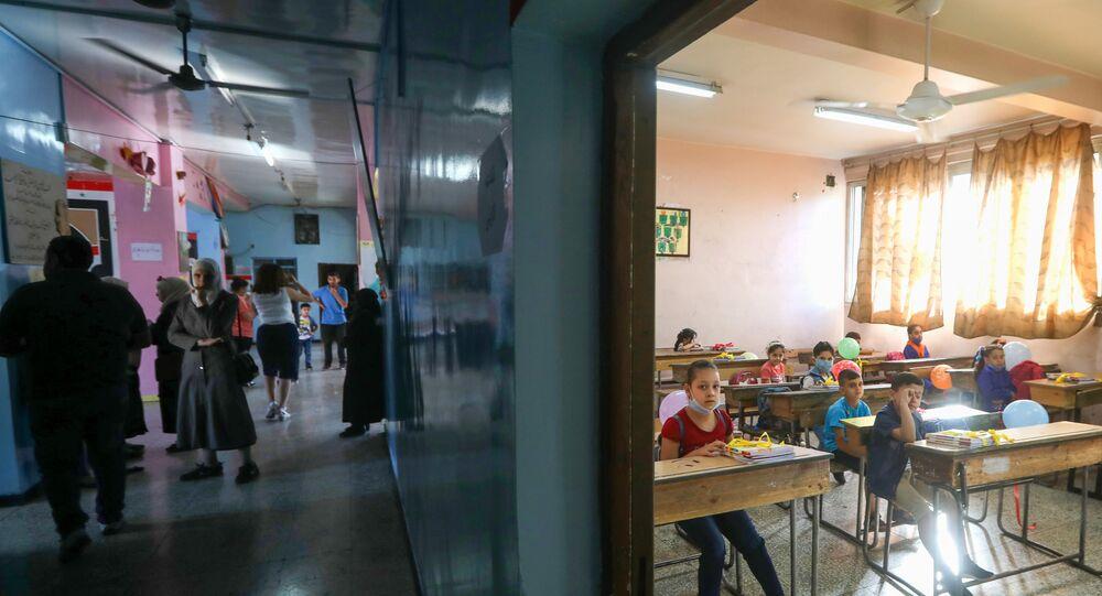 مدرسة في دمشق، سوريا 13 سبتمبر 2020
