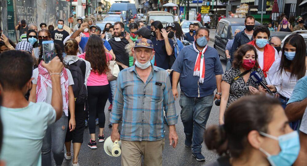 تظاهرة في بيروت رفضا لرفض الدعم: سنذهب للاشتباك المباشر مع السلطة