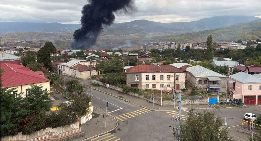 تداعيات التصعيد العسكري بين أرمينيا وأذربيجان في منطقة قره باغ (قرة باغ) ب، 4 أكتوبر 2020