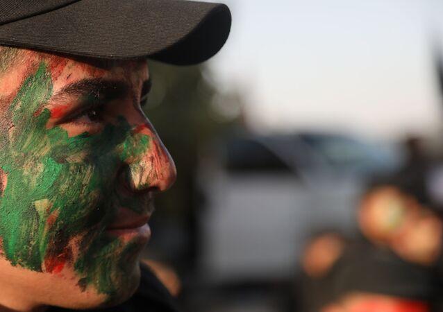 حركة الجهاد الإسلامي الفلسطينية تحتفل بالذكرى الـ 33 لانطلاقها، دمشق، سوريا 7 أكتوبر 2020