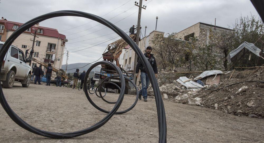 التصعيد العسكري في منطقة قره باغ بين أرمينيا وأذربيجان - ستيباناكيرت، 10 أكتوبر 2020