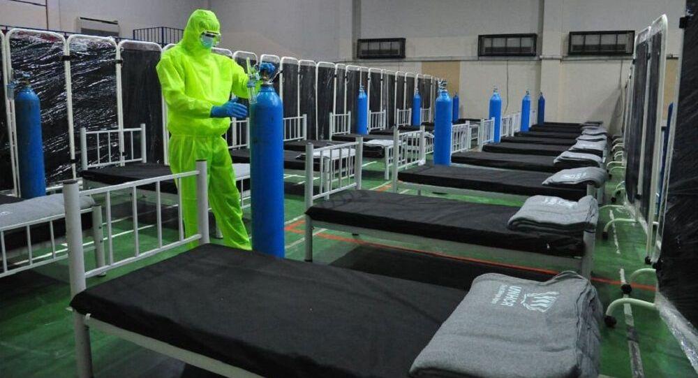 الصحة السورية تجهز مشفى أوكسجين لاستقبال حالات كورونا في دمشق، سوريا 12 أكتوبر 2020