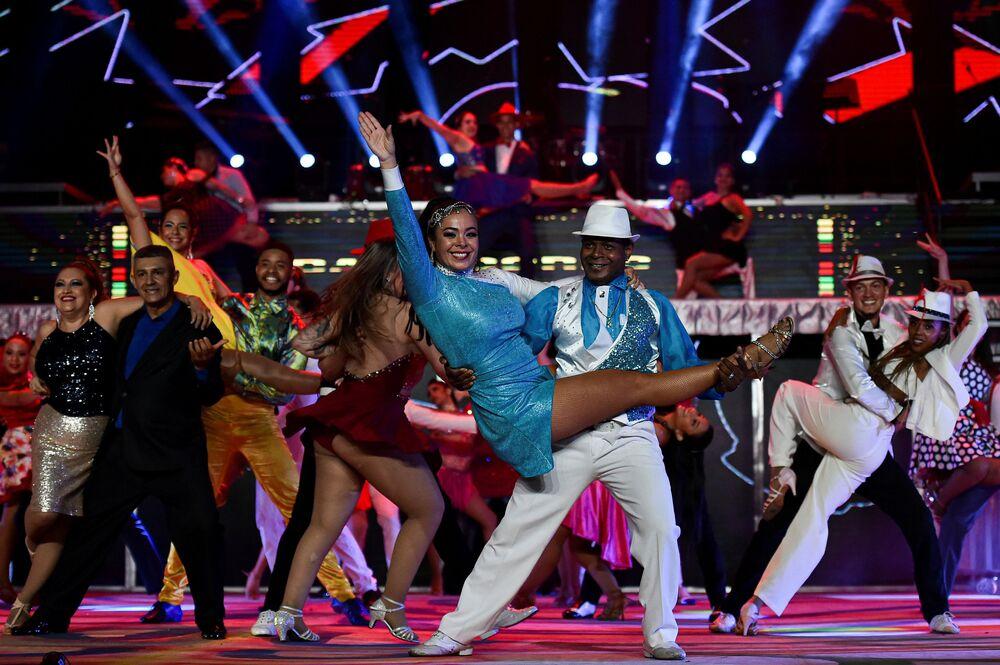 مهرجان رقص السالسا العالمي بنسخته الـ 15 في مدينة كاليه، كولومبيا 10 أكتوبر 2020