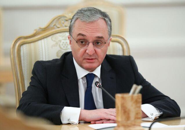 وزير الخارجية الأرمني زهراب ناتساكانيان في موسكو، 12 أكتوبر 2020