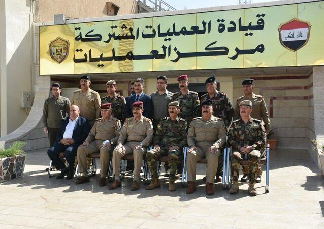 قيادة العمليات المشتركة العراقية تكشف اتفاق أمني تاريخي مع إقليم كردستان (بين بغداد وأربيل)، لتأمين الحدود الفاصلة وتدمير خطط الإرهاب، العراق 12 أكتوبر 2020