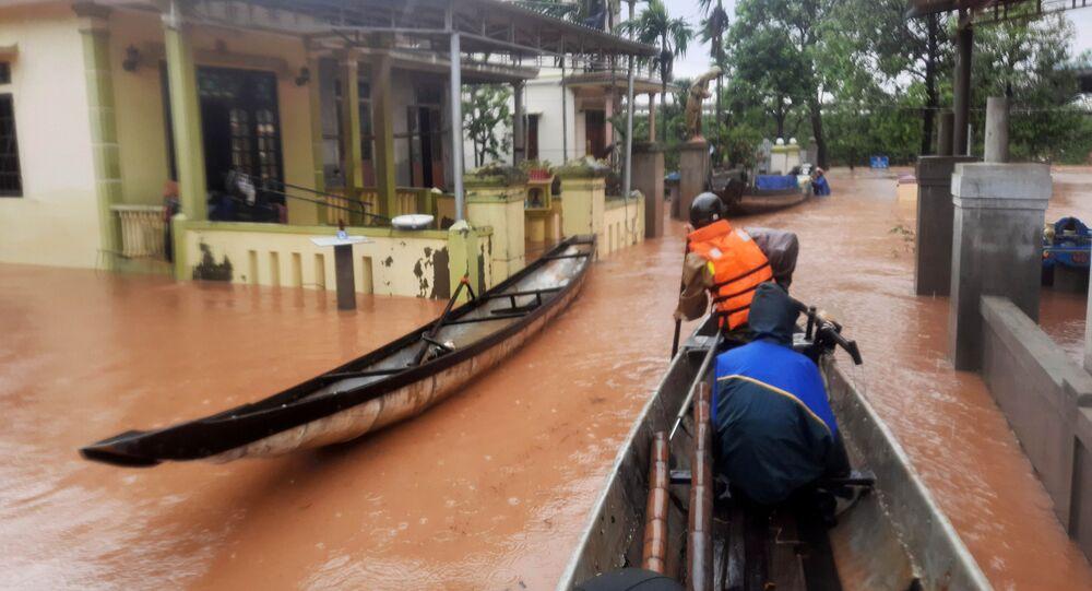 فيضانات هائلة في فيتنام، 12 أكتوبر 2020