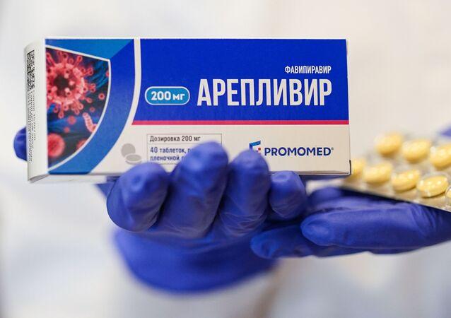الدواء Areplivir (أريبليفير) الروسي لمعالجة فيروس كورونا، موسكو، روسيا سبتمبر 2020