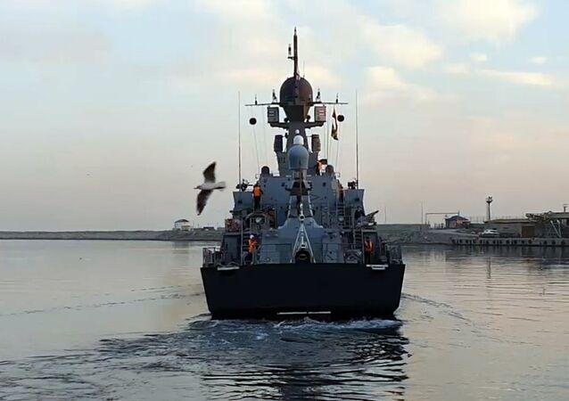 مناورات بحر قزوين، روسيا 16 أكتوبر 2020