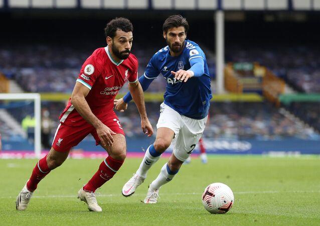 محمد صلاح في مباراة ليفربول وإيفرتون، 17 أكتوبر/ تشرين الأول 2020