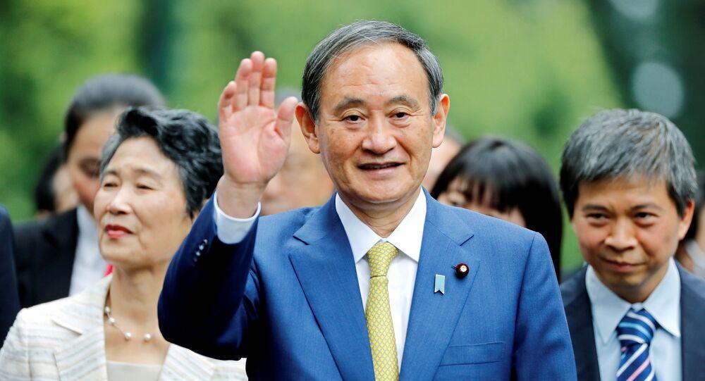 رئيس الوزراء الياباني الجديد وشيهيدي سوغا في زيارة رسمية إلى فيتنام، ويلتقي مع رئيس الوزراء الفيتنامي نجوين شوان فوك، 19 كتوبر 2020