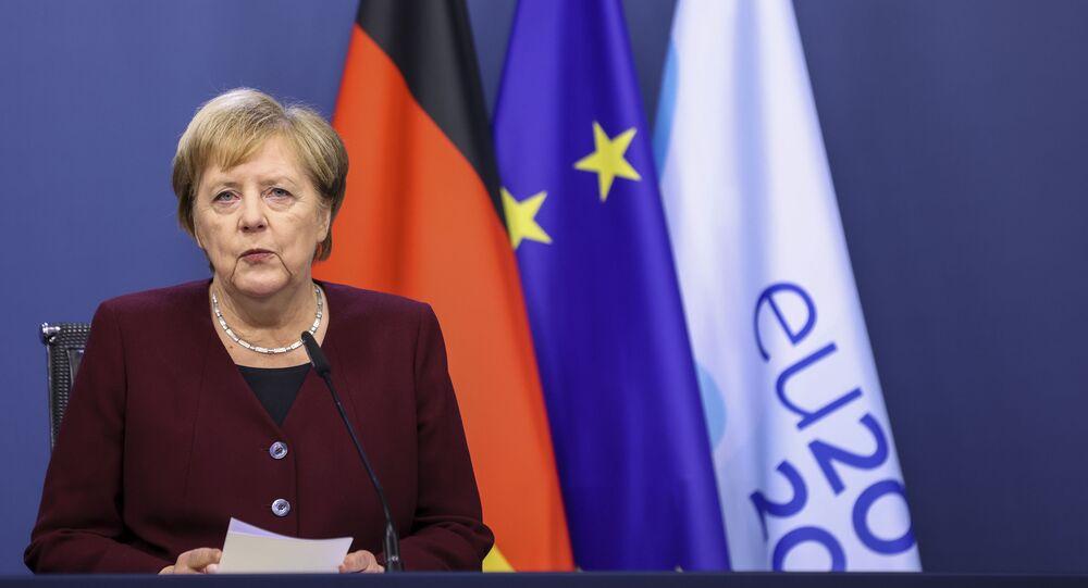 المستشارة الألمانية أنجيلا ميركل، ألمانيا، الاتحاد الأوروبي، 16 أكتوبر 2020