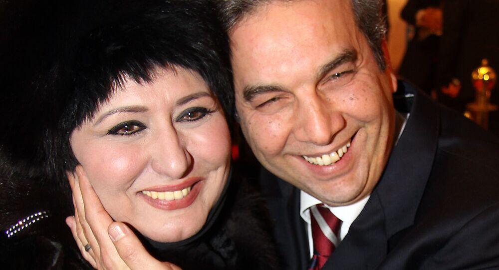 الفنانة المصرية سهير رمزي وزوجها