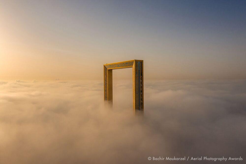 صورة بعنوان الإطار، للمصور اللبناني بشير موكارزيل، الفائزة في فئة التصوير البناء من مسابقة جوائز التصوير الجوي لعام 2020
