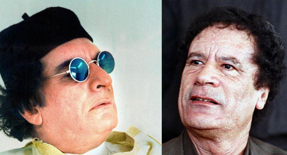 الفنان المصري محيي إسماعيل مجسدا دور الرئيس الليبي معمر القذافي