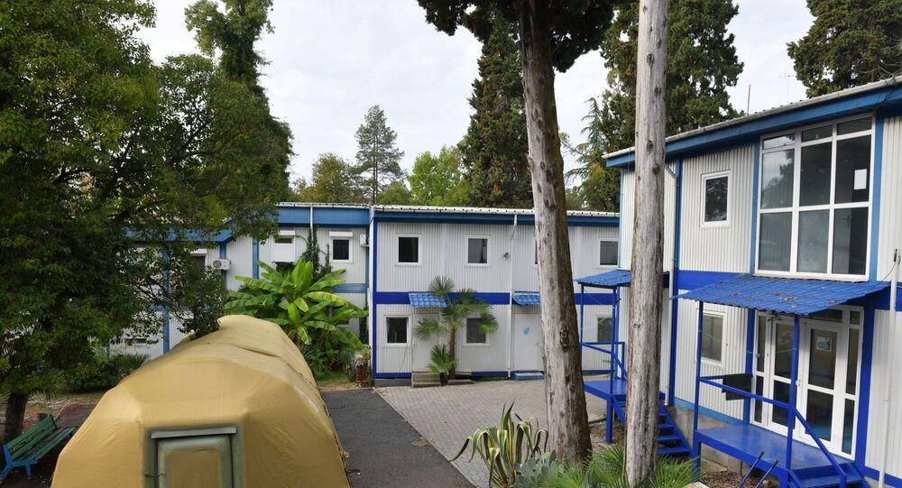 مستشفى مؤقت لمرضى فيروس كورونا في سوخوم