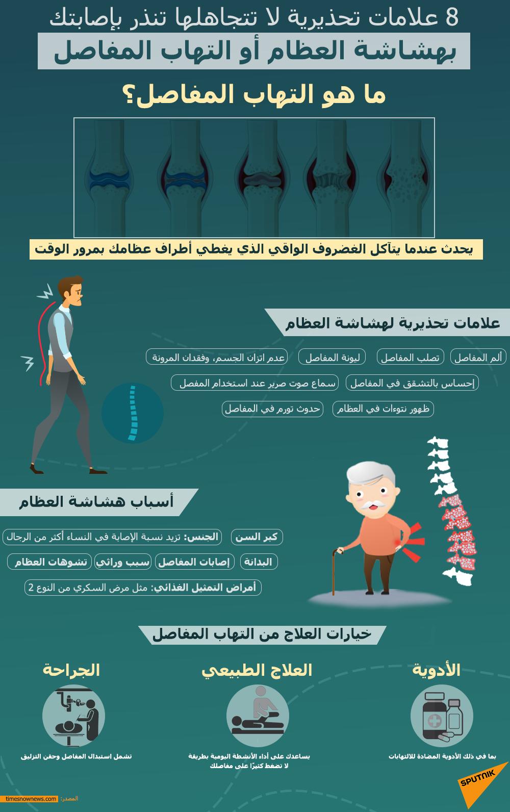 علامات التهاب المفاصل وهشاشة العظام