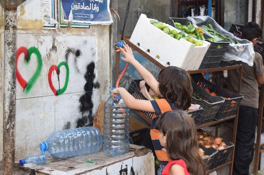 مخيم برج البراجنة في بيروت، لبنان 21 أكتوبر 2020