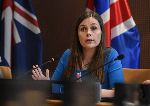 رئيسة وزراء آيسلندا كاترين جاكوبسدوتير