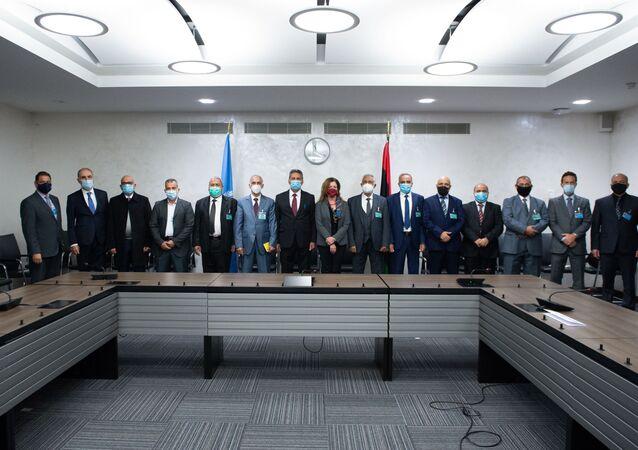 محادثات اللجنة العسكرية الليبية المشتركة (5+5)، يوم الاثنين الماضي، في مقر الأمم المتحدة في جنيف، سويسرا 23 أكتوبر 2020