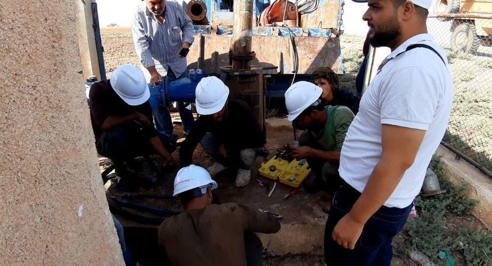 محطة آبار علوك بريف رأس العين شمالي الحسكة، سوريا 23 أكتوبر 2020
