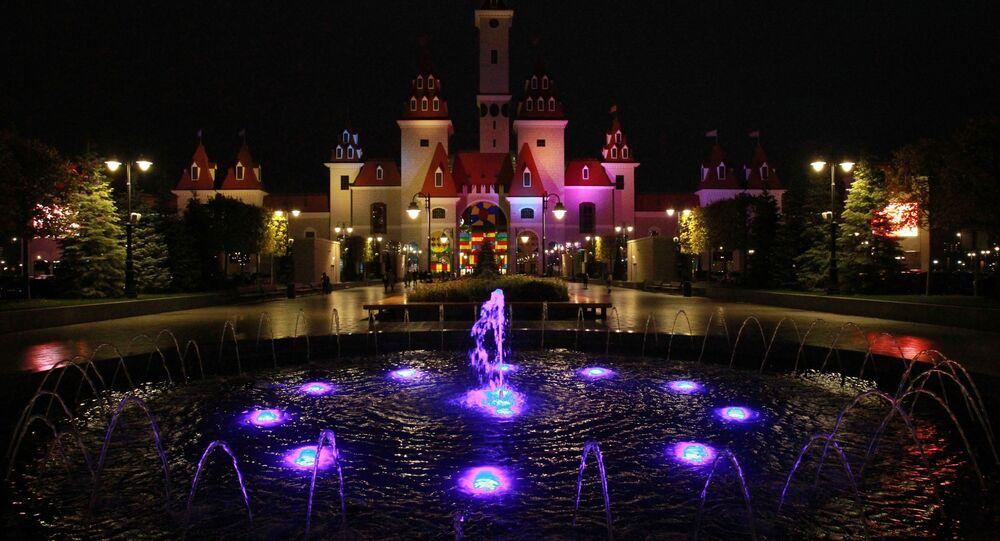 تحضيرات هالوين في مدينة الملاهي جزيرة الأحلام في موسكو، روسيا 23 أكتوبر 2020