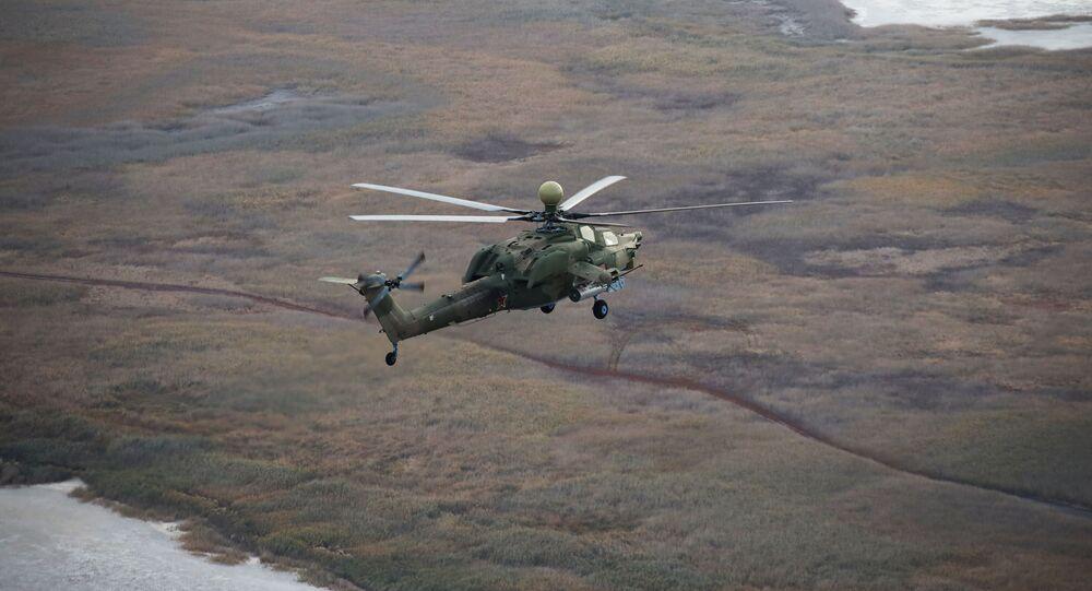 مناورات الطيران الحربي الروسي في منطقة جنوب غرب روسيا - الجيش الروسي، مروحية مي - 28 أو بي