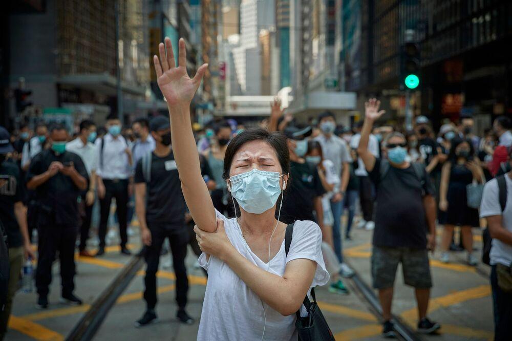 صورة بعنوان المظاهرات المؤيدة للديمقراطية، هونغ كونغ: ثورة عصرنا، للمصور الفرنسي كيران ريدلي، التي فازت في فئة التحرير/ مصور صحفي لهذا العام للمصورين المحترفين في مسابقة جوائز التصوير الدولية 2020