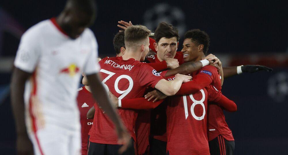 مباراة مانشستر يونايتد ولايبزيج (5-0) في دوري أبطال أوروبا