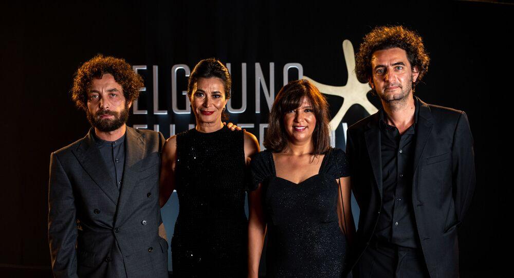 أبطال الفيلم التونسي الرجل الذي باع ظهره في الدورة الرابعة لمهرجان الجونة السينمائي، 27 أكتوبر/ تشرين الأول 2020