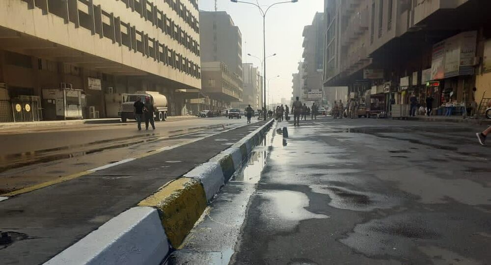 افتتاح التحرير وجسر يربط جانبي بغداد بعد عام من الإغلاق إثر الاحتجاجات