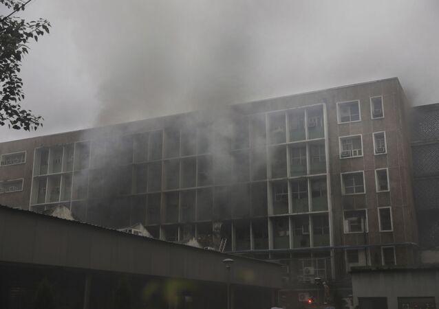 حريق في مستشفى