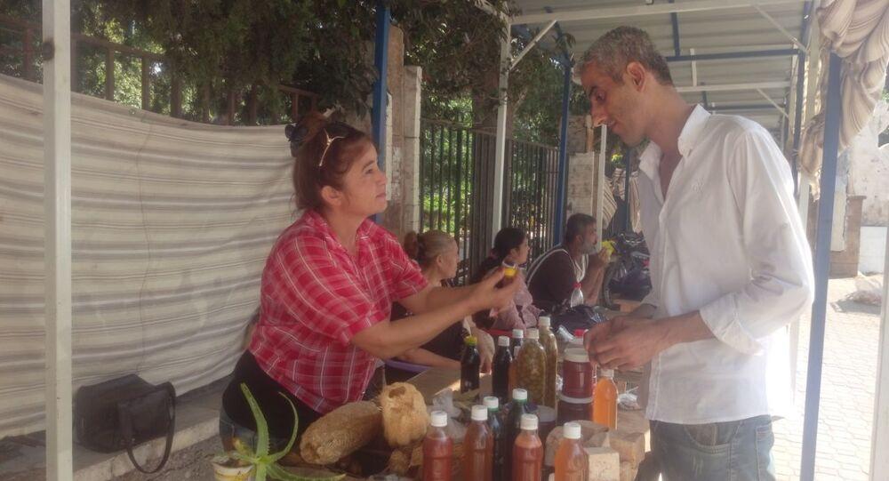 سوق المنتجات الريفية في سوريا