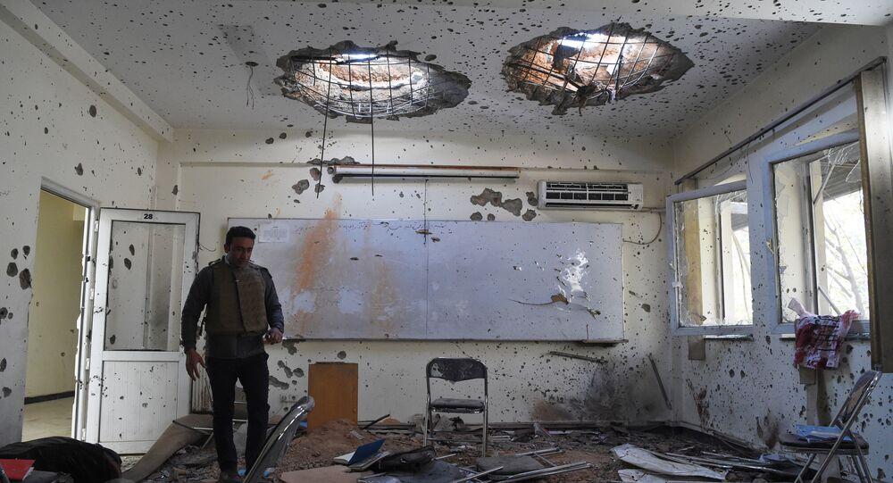 أثار هجوم استهدف جامعة كابول، أفغانستان، 3 نوفمبر 2020