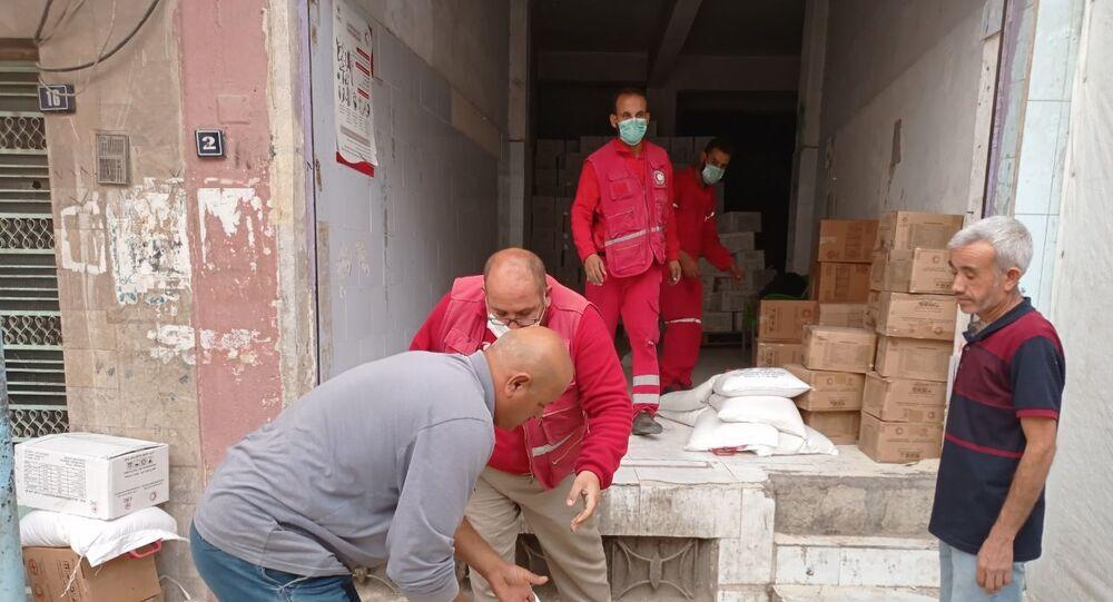الهلال الأحمر السوري يبدأ حملة إغاثية لمهجري عفرين شرقي سوريا