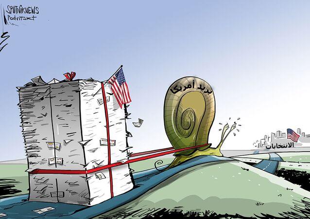 البريد الأمريكي يتأخر في تسليم بطاقات الاقتراع قبل المواعيد النهائية