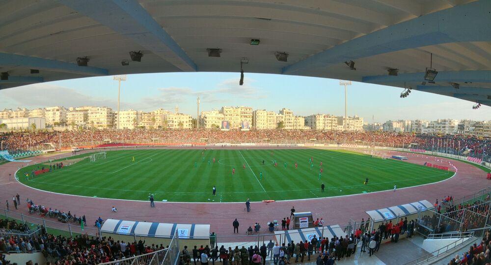 استاد ملعب الحمدانية الدولي في مدينة حلب السورية