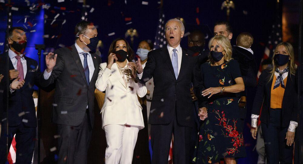 جو بايدن فور انتخابه رئيسا لأمريكا