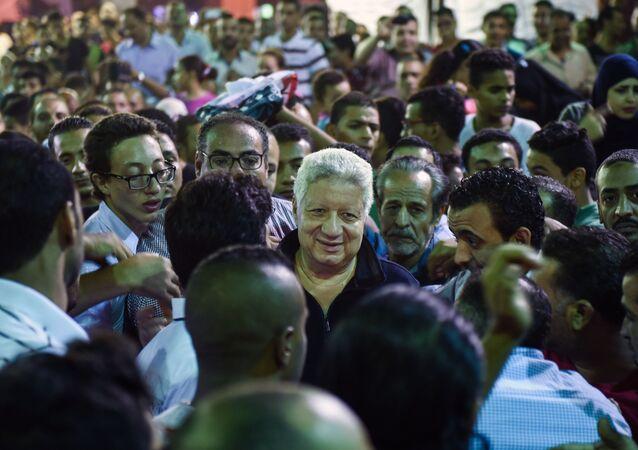 رئيس نادي الزمالك المصري، عضو مجلس النواب المستشار مرتضى منصور