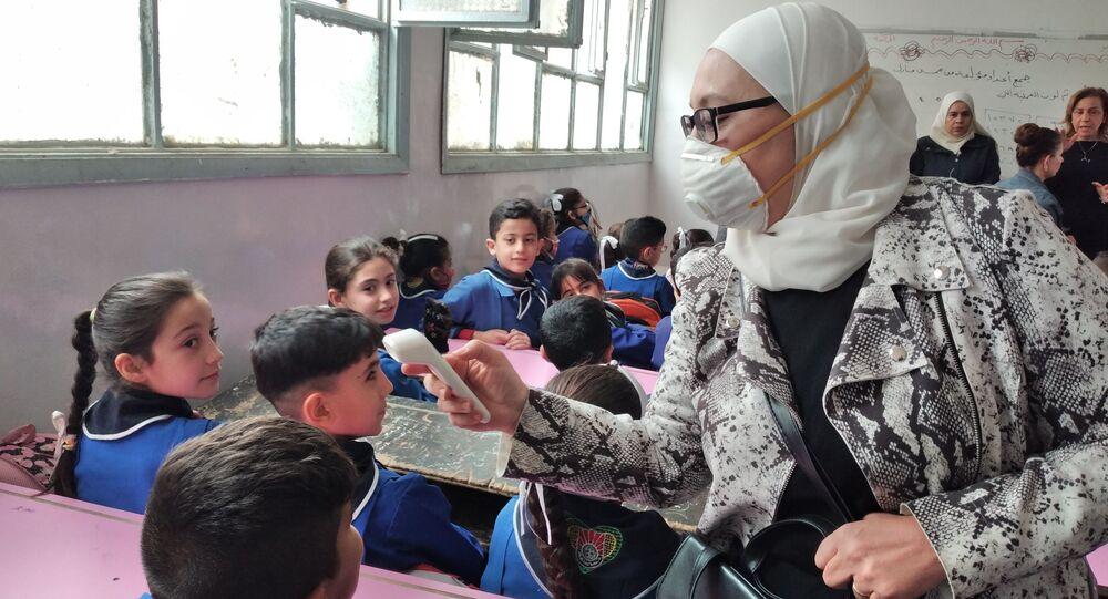 وزارة التربية السورية تطلق حملة اللقاح المدرسي انطلاقاً من محافظة الحسكة، سوريا