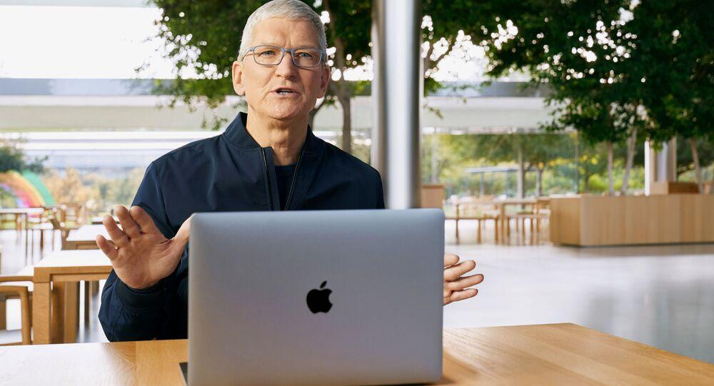 شركة آبل تقدم أجهزة حاسوب ماك الجديدة، والتي يعتقد أنها ستستخدم رقائق المعالجات التي طورتها بنفسها، كاليفورنيا، الولايات المتحدة 10 نوفمبر 2020