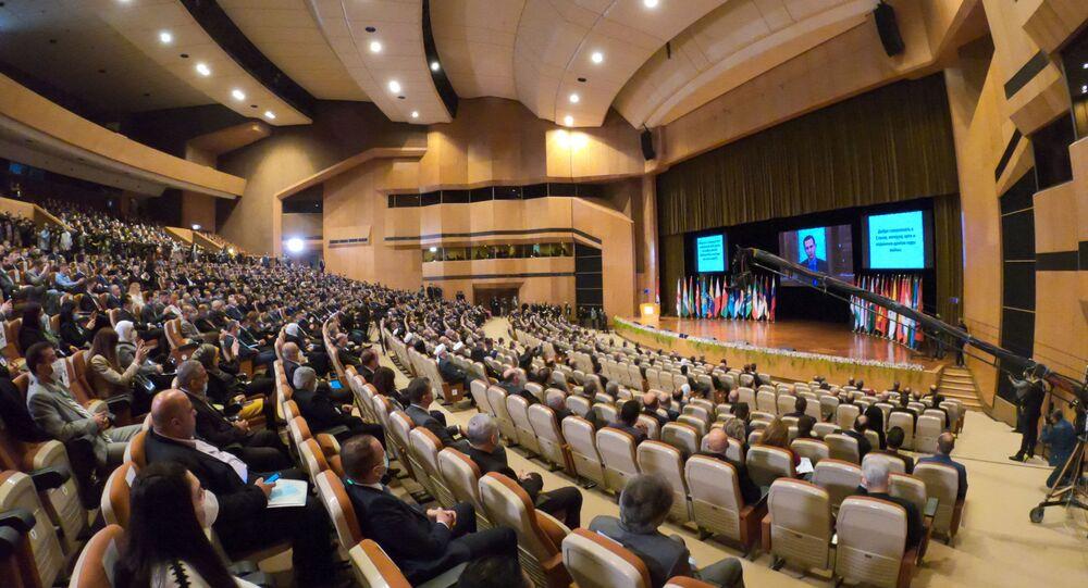 افتتاح مؤتمر عودة اللاجئين السوريين في قصر الأمويين في دمشق، سوريا 11 نوفمبر 2020