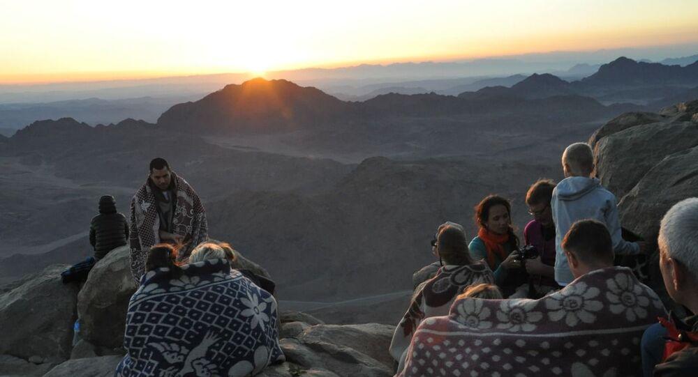 شروق الشمس في جبل موسى