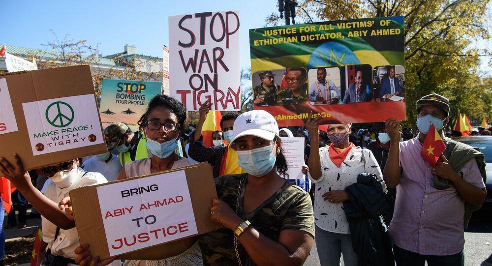 مظاهرات في واشنطن ضد العمليات العسكرية في تيغراي