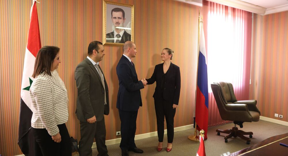 معاون وزير الخارجية السوري، أيمن سوسان، المؤتمر الدولي لعودة اللاجئين السوريين في دمشق، سوريا 12 نوفمبر 2020