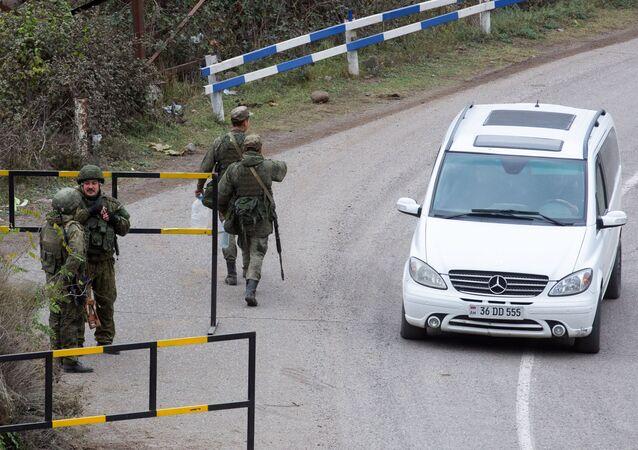 قوات حفظ السلام الروسية إلى قره باغ، بعد توقيع اتفاق لإنهاء الحرب بين أرمينيا وأذربيجان، 13 نوفمبر 2020