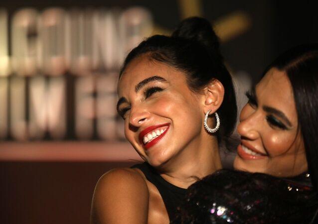 الممثلة المصرية سلمى أبو ضيف في مهرجان الجونة السينمائي، 24 أكتوبر/ تشرين الأول 2020