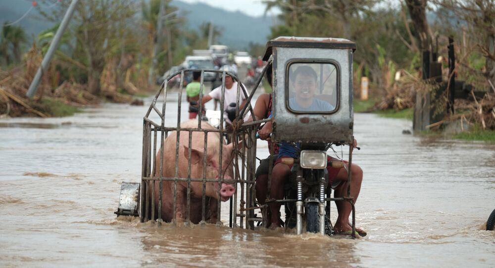 إعصار فامكو في الفلبين