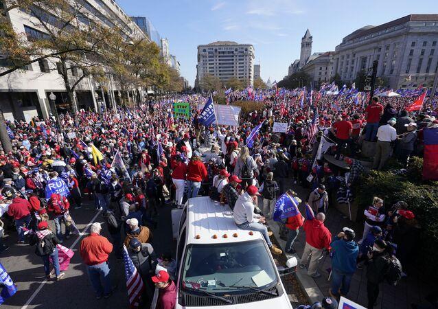 أنصار دونالد ترامب في واشنطن